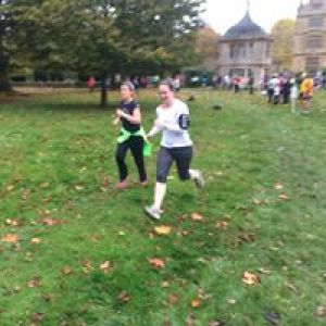 Client @Parkrun, great time nailed with run specific training.