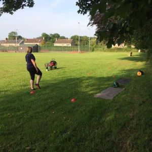 Outdoor Training in the shade on hot days, refreshing breeze, sun shining, what else do you need?