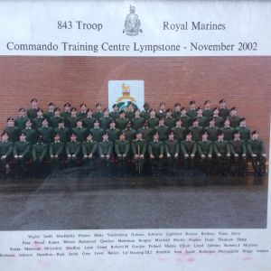 My old Marine recruit troop, the legendary 843 troop.
