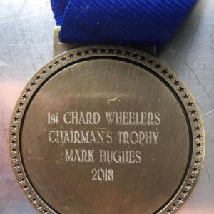 Thanks to Chard Wheelers for the Chairman's Trophy in 2018