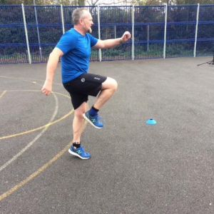 Run specific drills with client